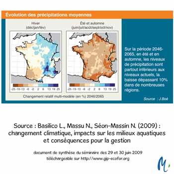 evolution précipitations